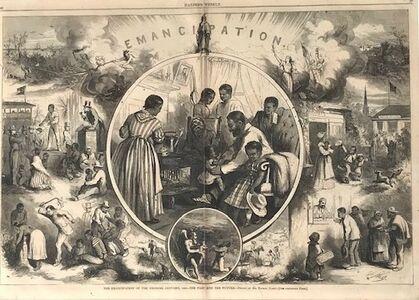 Thomas Nast, 'Emancipation Proclamation', 1863