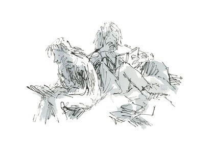 Quentin Blake, 'An Anthology of Readers', 2019