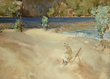 William Russell Flint, 'Ultramarine and Gold', ca. 1920