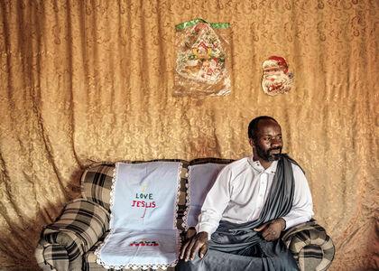 Jonas Bendiksen, 'Jesus of Kitwe in his living room. Kitwe, Zambia.   ', 2016
