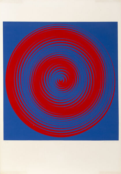 Getulio Alviani, 'Blue and Red Spirals', 1968