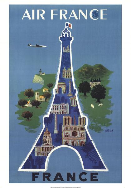 Bernard Villemot, 'Air France', 2002