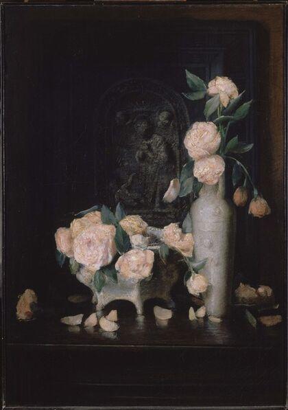 Julian Alden Weir, 'Roses', 1883-1884
