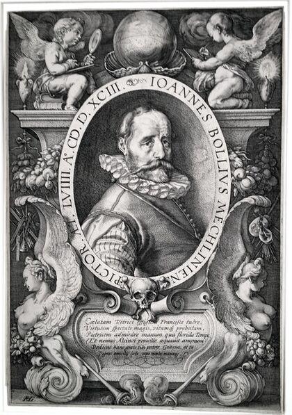 Hendrik Goltzius, 'Portrait of Hans Bol, the Painter, at age 58', 1593