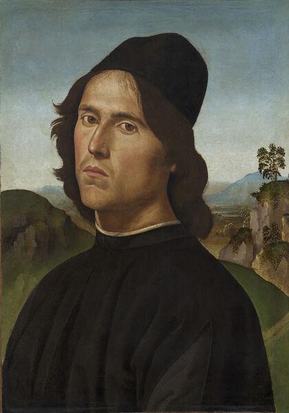 Pietro Perugino, 'Portrait of Lorenzo di Credi', 1488