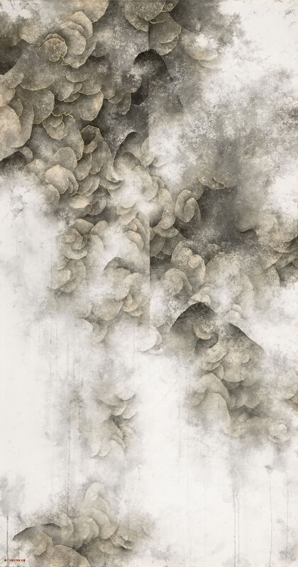 Yau Wing Fung 邱榮豐, 'Looming Scenery 10', 2020, Drawing, Collage or other Work on Paper, Chinese ink & colour on rice paper, Alisan Fine Arts