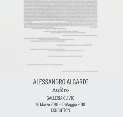 "Alessandro Algardi ""AUFÉRO"", installation view"
