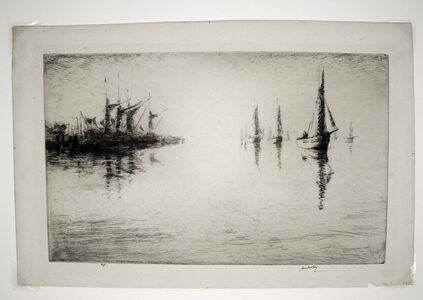 James McBey, 'The Ebb Tide, or Brightling Sea', 1922