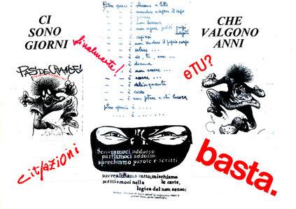 Nanni Balestrini, 'Cit-azioni', 1975-2017