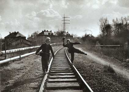 Viktor Kolar, 'Untitled (Men on Railroad Tracks)', 1977 / 1991