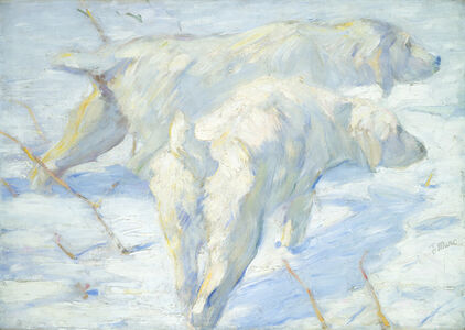 Franz Marc, 'Siberian Dogs in the Snow', 1909/1910