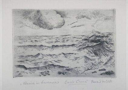 Carlo Carrà, 'Marina in Burrasca (Stormy Seas)', 1924