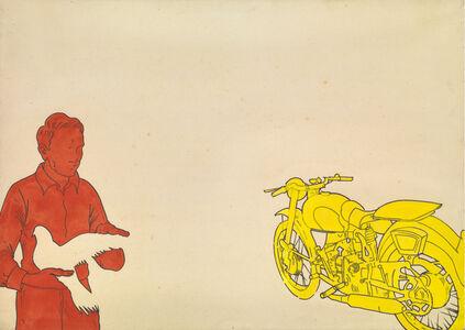 Renato Mambor, 'Airone ferito', 1966