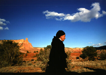 Dan Budnik, 'Georgia O'Keeffe with Ghost Ranch Spirit Cloud, New Mexico', 1975