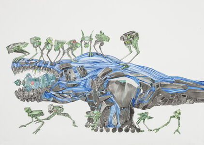 Chen Xi 陈熹, 'Meat-eating dinosaurs and its defense drone'