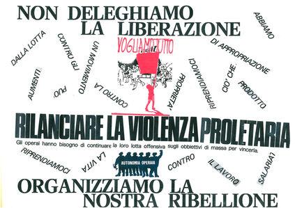 Nanni Balestrini, 'La Violenza Proletaria', 1975-2017