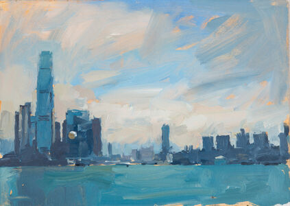 James Hart Dyke, 'Across the harbour, study, Hong Kong', 2014