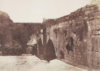 Auguste Salzmann, 'Jérusalem, Enceinte de l'hôpital des Chevaliers de SaintJean Côté Sud', 1854 / 1850s