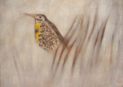 Fred Reichman, 'Spring Coming Is A Meadowlark', 1962