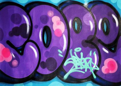 Cope2, ''Purple Tag (Untitled)'', 2020