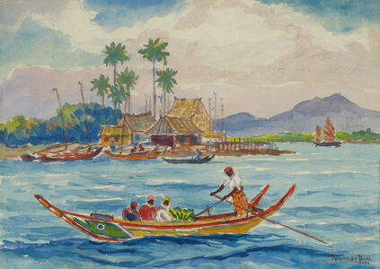 Reynolds Beal, 'Malay Harbor Boat', 1935