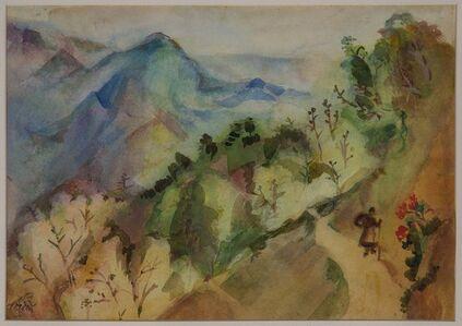 Benode Behari Mukherjee, 'Mussorie- Landscape (Coolie)', 1953