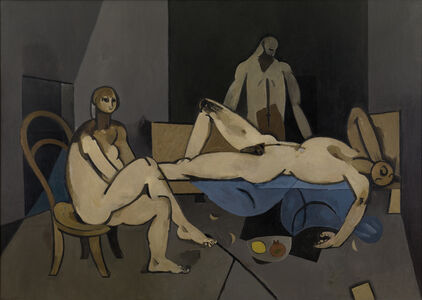 Keith Vaughan, 'Theseus and the Minotaure (Interior at Minos or Theseus)', 1950