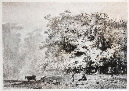 Paul Huet, 'Près de Fontainebleau', 1863