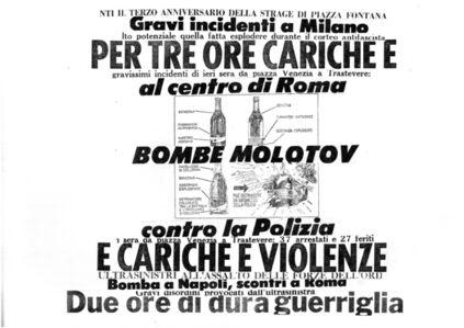 Nanni Balestrini, 'Bombe Molotov', 1975-2017
