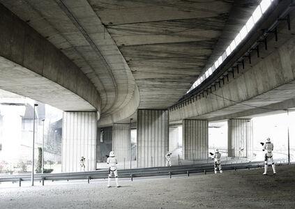 Cédric Delsaux, 'Stormtroopers under Bridge, Paris', 2004