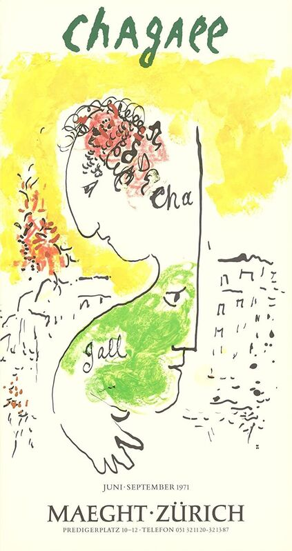 Marc Chagall, 'Man and Goat', 1971, Print, Lithography, Viacanvas