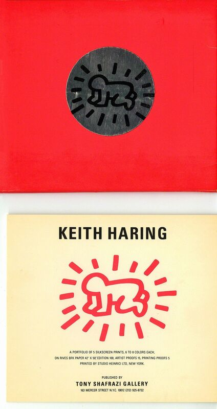 Keith Haring, 'Keith Haring Fertility Suite exhibition cards (set of 5)', 1983, Ephemera or Merchandise, Offset printed, Lot 180