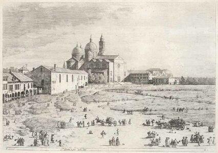 Studio of Giovanni Antonio Canal, called Il Canaletto, 'S. Giustina In Prà Della Valle (Devesme 8; Bromberg 7)'