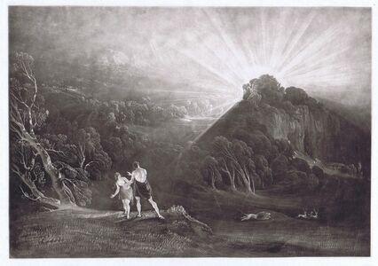 John Martin (1789-1854), 'Approach of the Archangel Michael', 1824/26