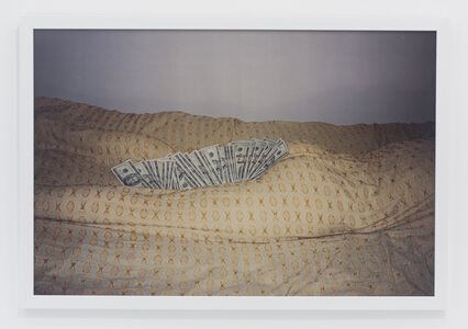 Andrew Jeffrey Wright, 'Money inbetween thighs and butt off body wrapped in bedspread', 2002