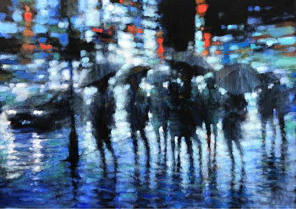 David Hinchliffe, 'The City in the Rain', 2019