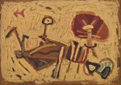 Nikos Kessanlis, 'The girl, Conversation', executed in 1957