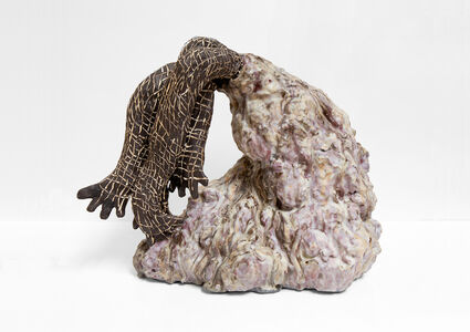 Julia Haft Candell, 'Volcano with Woven Feelers: Lavender, Ochre ', 2020