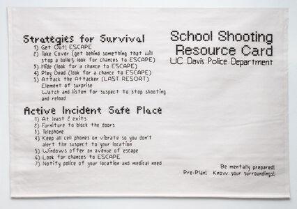 Bren Ahearn, 'Active Shooter Directions #1', 2011