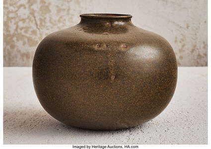 Auguste Delaherche, 'Green Bowl', 1910
