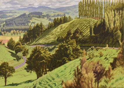Dick Frizzell, 'Shadows on a Hill', 2018