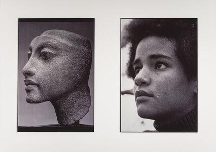 "Lorraine O'Grady, 'Sisters III (L: Nefertiti's daughter, Maketaten; R: Devonia's Daughter, Kimberley), from the ""Miscegenated Family Album""', 1980"
