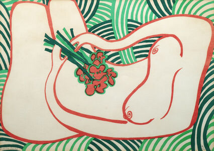 Edwina Sandys, 'Reclining nude with bouquet (4 works)'