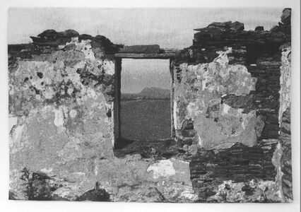 Frans Beerens, 'Window with a view of the abandon Island An Blascaod Mor', 2013
