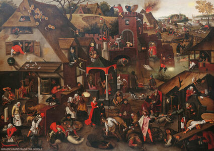 Pieter Bruegel the Younger, 'The Flemish Proverbs', 1610