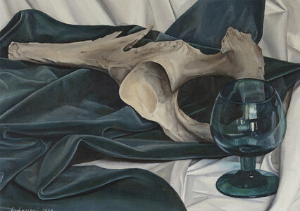 Luigi Lucioni, 'Still Life, Blue and Gray', 1964