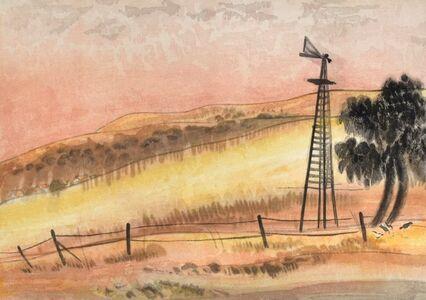 Chiura Obata, 'Dawn, Knights Ferry, Stanislaus County (California) test print from the World Landscape Series', ca. 1930