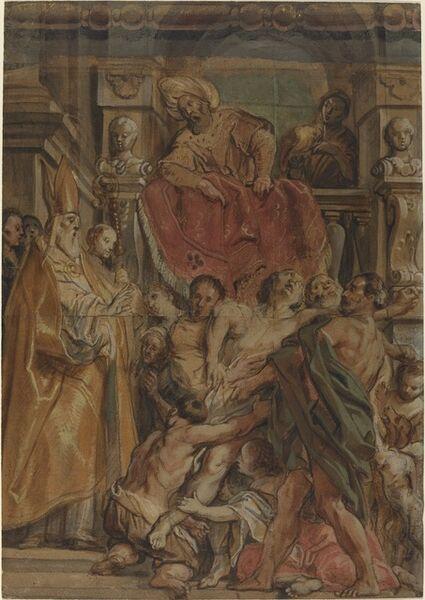 Jacob Jordaens, 'Saint Martin of Tours Healing the Servant of Tetrodius', ca. 1630