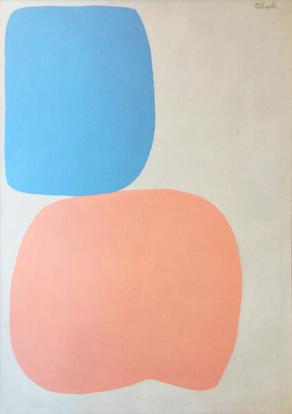 Louis Ribak, 'Pink and Blue Abstract ', 1960-1969