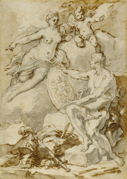 Francesco Solimena, 'Venus Receiving from Vulcan the Arms of Aeneas', 1704